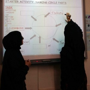 Students using Smartboards